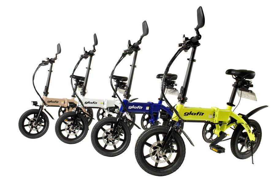 新たに展開される4色の「glafitバイク GFR-02」