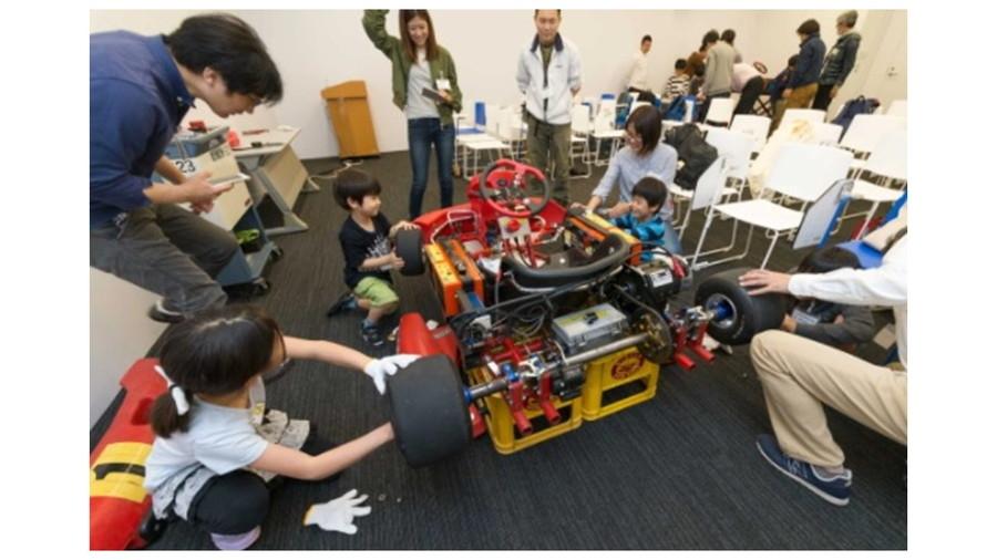 日本EVフェスティバル:過去の組立体験教室の様子