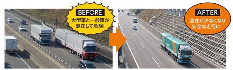 新東名 6車線化 時速120㎞ 御殿場JCT~浜松いなさJCT 大型車と一般車の混在が緩和される