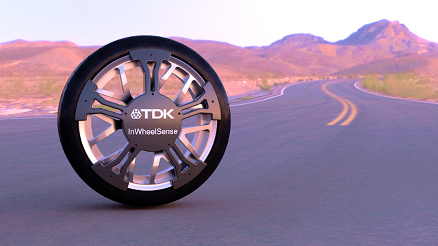 TDK|InWheelSense(インホイールセンス)|発電|タイヤ|ホイール|イメージ画像
