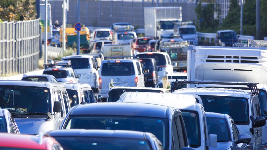 2020年 年末年始 高速道路 交通量 渋滞回数 渋滞のイメージ