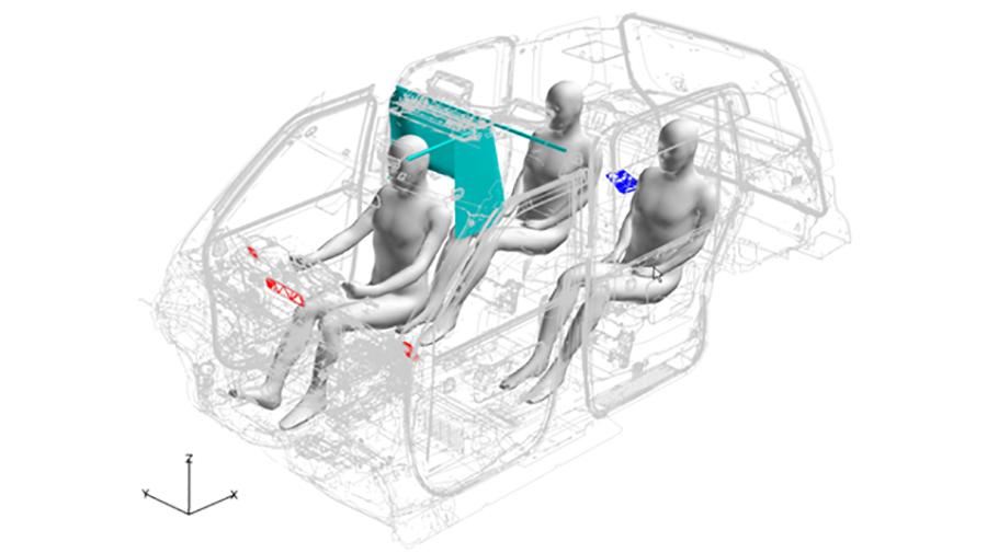 スーパーコンピューター富岳でタクシー車内の換気をシミュレーション