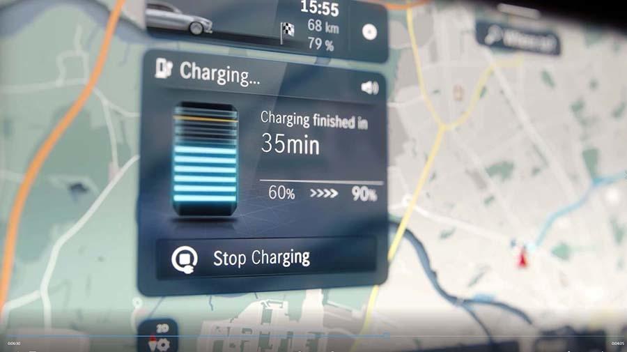 フルEVである「EQS」に搭載されることもあり、バッテリー管理も重要視されている
