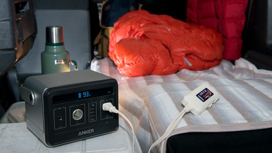 冬|車中泊|防寒対策|車内温度|ポータブル電源を持ち込んで電気毛布を使用する