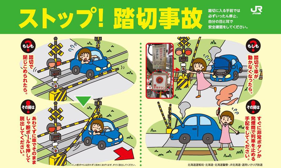 踏切事故|交通事故|道路交通法|ルール|対処法|踏切に閉じ込められた場合の対処法
