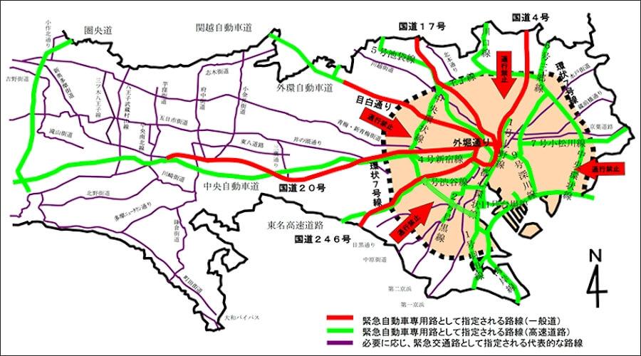 画像6。交通規制図。出典:関東地方整備局ホームページ