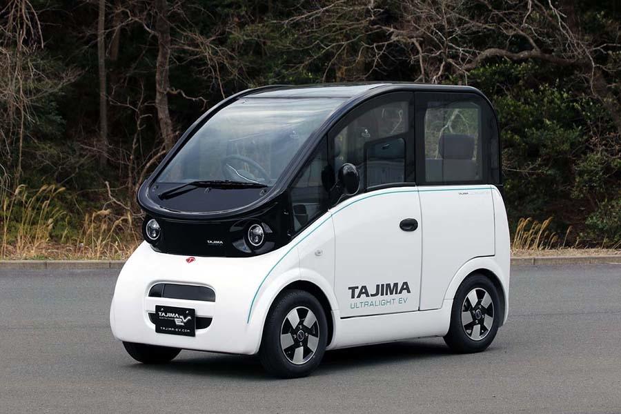 新会社「出光タジマEV」が開発する超小型EV。定員4名で最高速度は60km/h