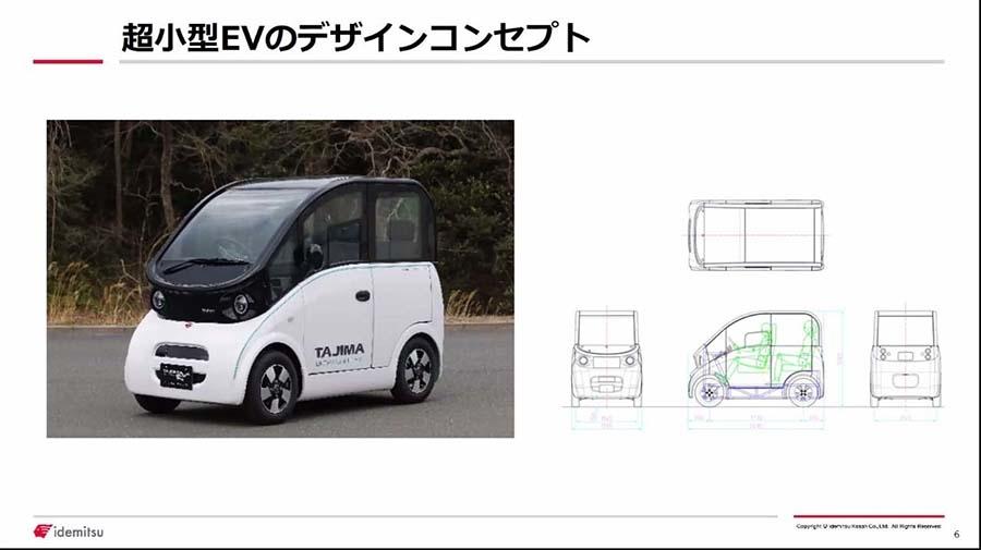 「出光タジマEV」が開発する超小型EVのデザインコンセプト