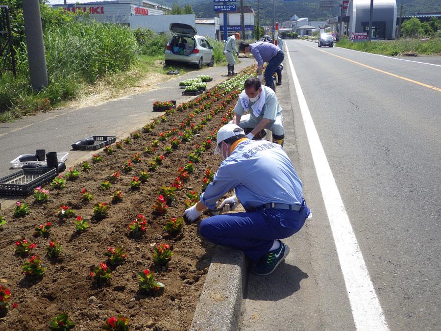 地方移住 秋田県 にかほ市 Aターン 国道7号線 花いっぱい運動