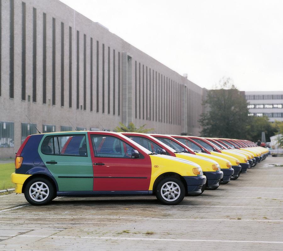 1995年VWポロ・ハレキン。欧州の一部国ではファストフード・チェーンのキャンペーンで景品にもなったという。