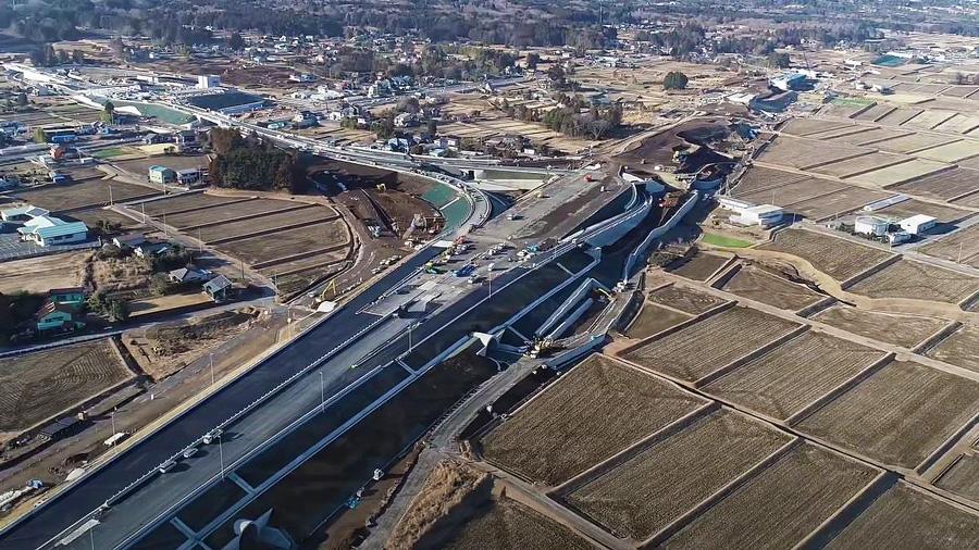 新東名高速|新御殿場IC|御殿場JCT|国道138号|開通|上空から見た御殿場JCT
