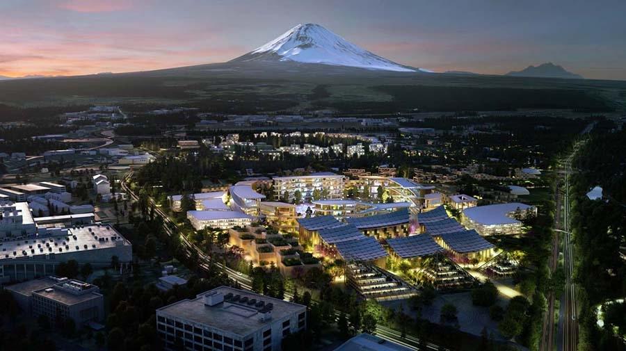 トヨタ傘下のウーブン・プラネットが静岡県裾野市の東富士工場跡地に建設を目指す「ウーブン・シティ」の全景(出典:トヨタ自動車)