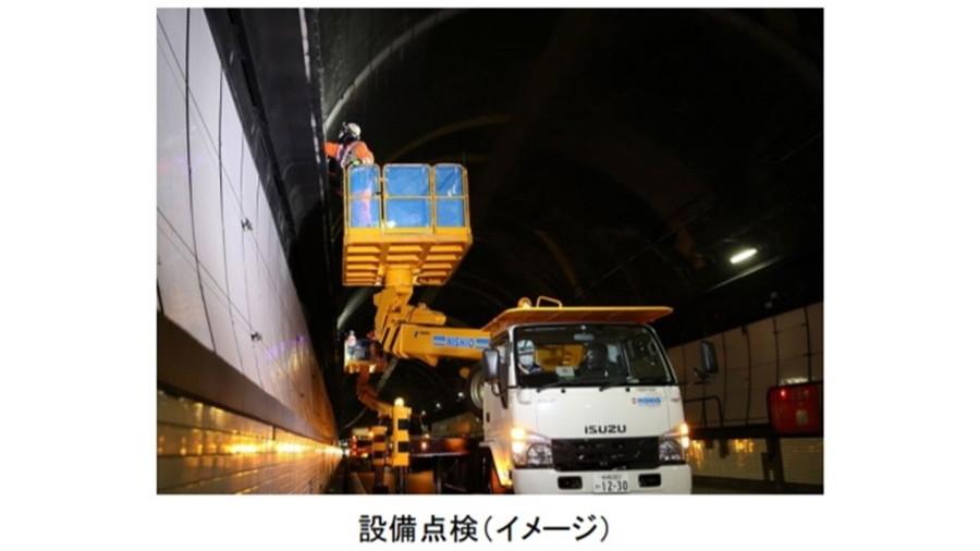 トンネル内の設備点検イメージ