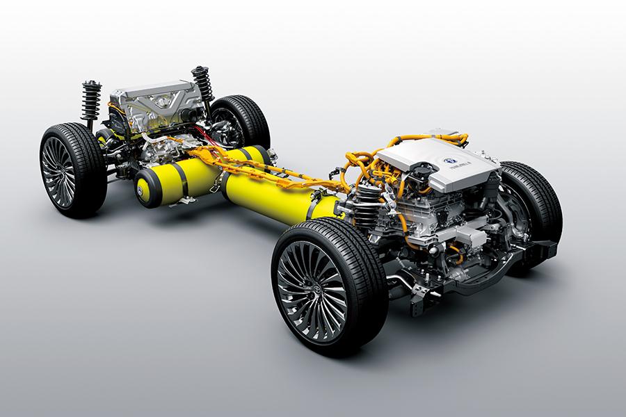 新型MIRAIの燃料電池ユニット