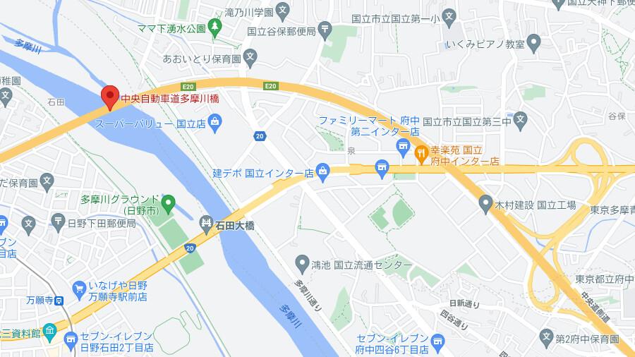 2021年5月31日からE20中央道の多摩川橋にて、床版を取り替える大がかりなリニューアル工事がスタート。2023年5月頃まで、2年間にわたって続く。
