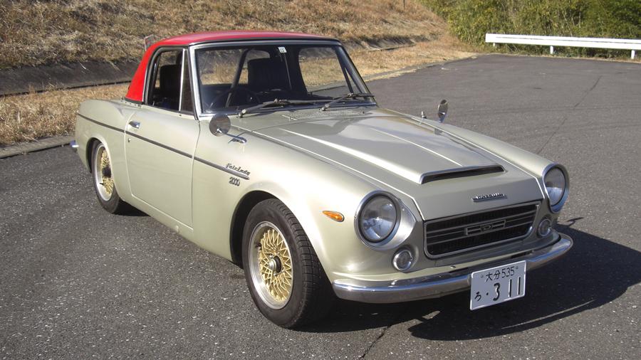 1960年代|自動車博物館|クラシックカー|九州自動車歴史館|ダットサン・フェアレディ2000|フロント