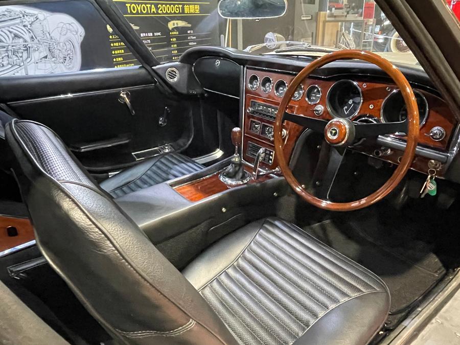 1960年代|自動車博物館|クラシックカー|ツカハラミュージアム|トヨタ・2000GT|インテリア