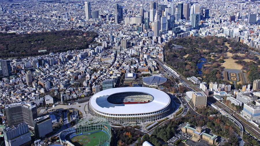 東京オリンピック・パラリンピック|東京五輪|大会関係車両等|専用|優先|通行帯|オリンピックスタジアム周辺のイメージ