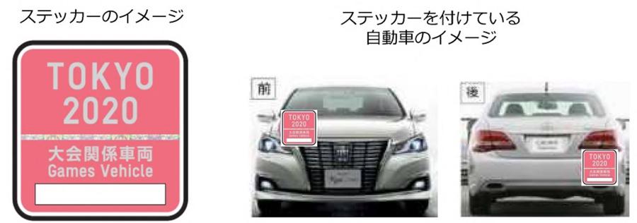 東京オリンピック・パラリンピック|東京五輪|2020|交通規制|大会関係車両等のステッカー|