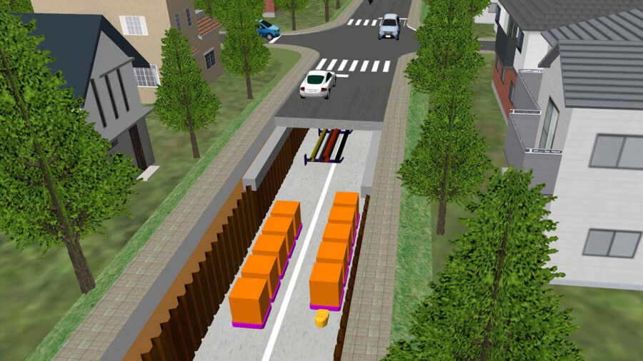 ダイバーストリートのイメージ。画像出典:大林組公式サイト