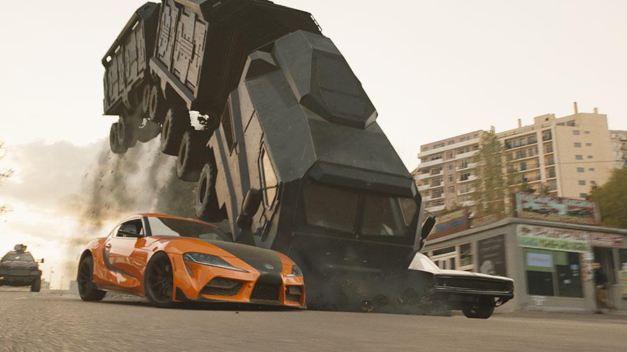 『ワイルド・スピード/ジェットブレイク』ではオレンジ色のスープラが活躍する