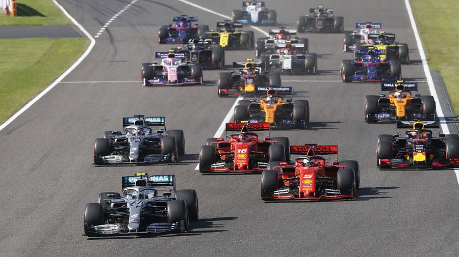 2019年の鈴鹿サーキットでのF1日本GPのスタートシーン