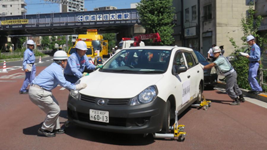 首都直下地震に備えた訓練の様子。画像提供:関東地方整備局