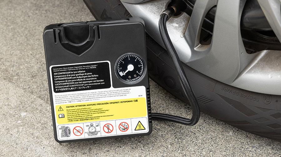 タイヤパンク応急修理キットの使い方を知っていますか?