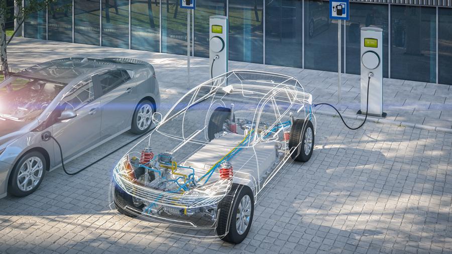 リチウムイオン電 LIB 水溶液系LIB 研究 新潟大学 EVに搭載されたバッテリーのイメージ