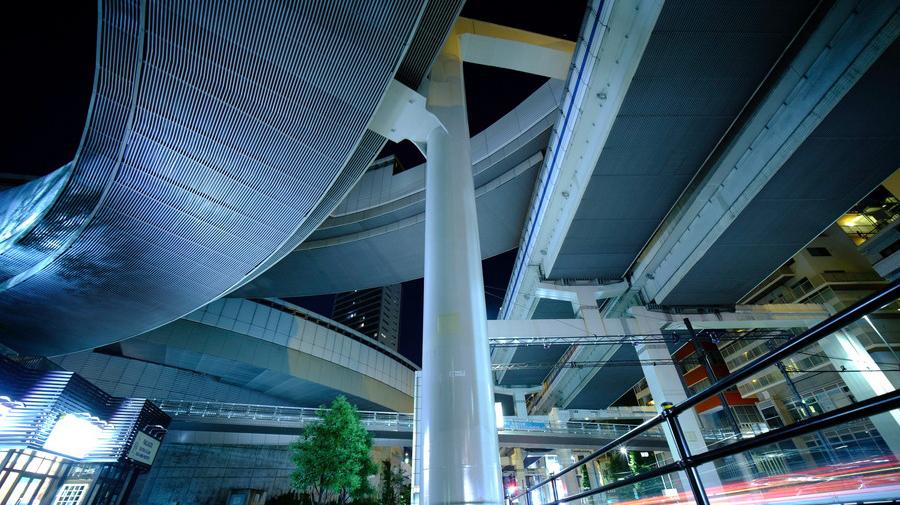 首都高速3号渋谷線・大橋JCTのあおりイメージ