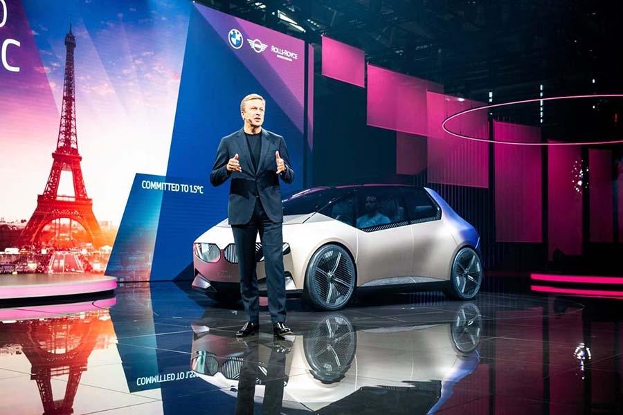 BMWがワールドプレミアしたEVコンセプト「1ビジョン サーキュラー」。100%リサイクルを可能としている(写真提供:IAA)