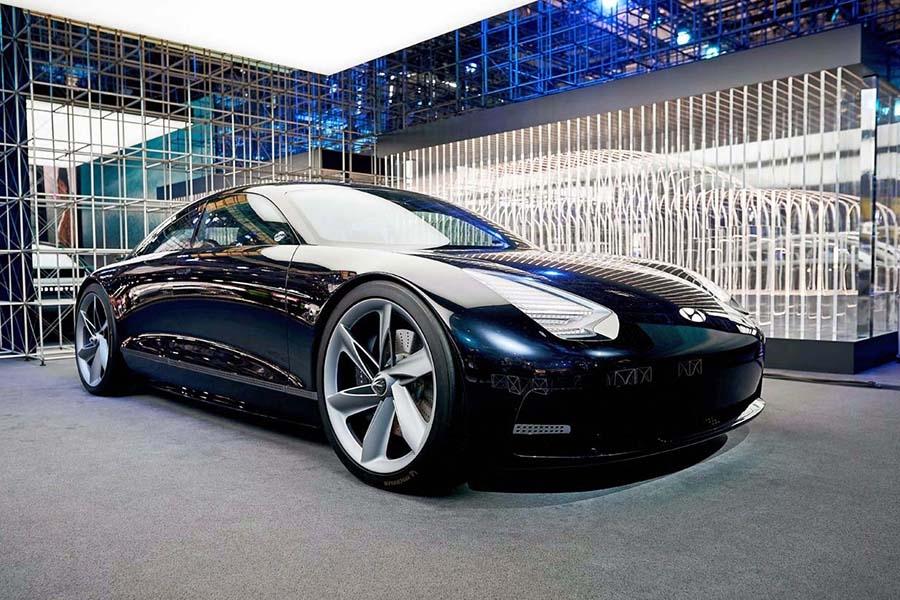 ヒュンダイがEV専用ブランドとして「アイオニック」を新たに立ち上げた。写真はそのコンセプトモデル「アイオニック6」(写真提供:現代自動車)