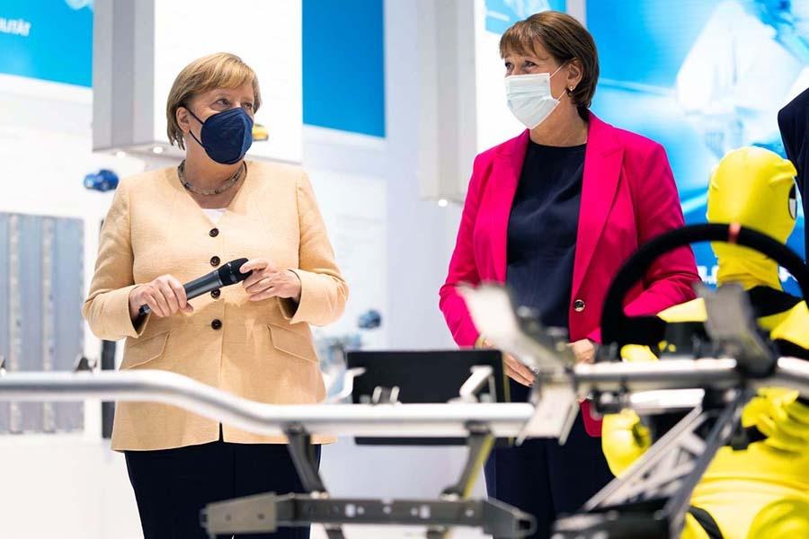 IAA Mobilityの開催初日(9月7日)にはドイツのメルケル首相が会場を訪れた(写真提供:IAA)