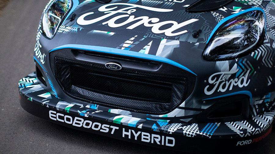 フォードのハイブリッド・ラリーマシンであるプーマ ラリー1 プロトタイプ