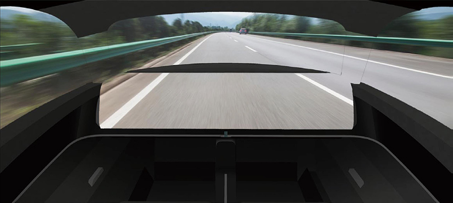 光学迷彩技術でダッシュボードが透明化する京セラMoeye。