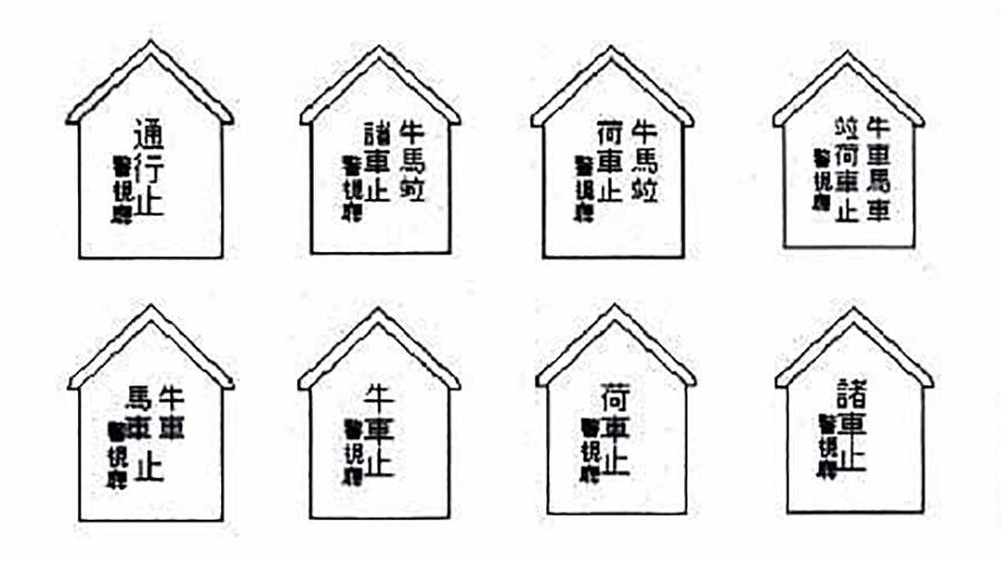 1898年に制定された8種の制札